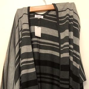 Calvin Klein Grey Stripe Cardigan/Shawl